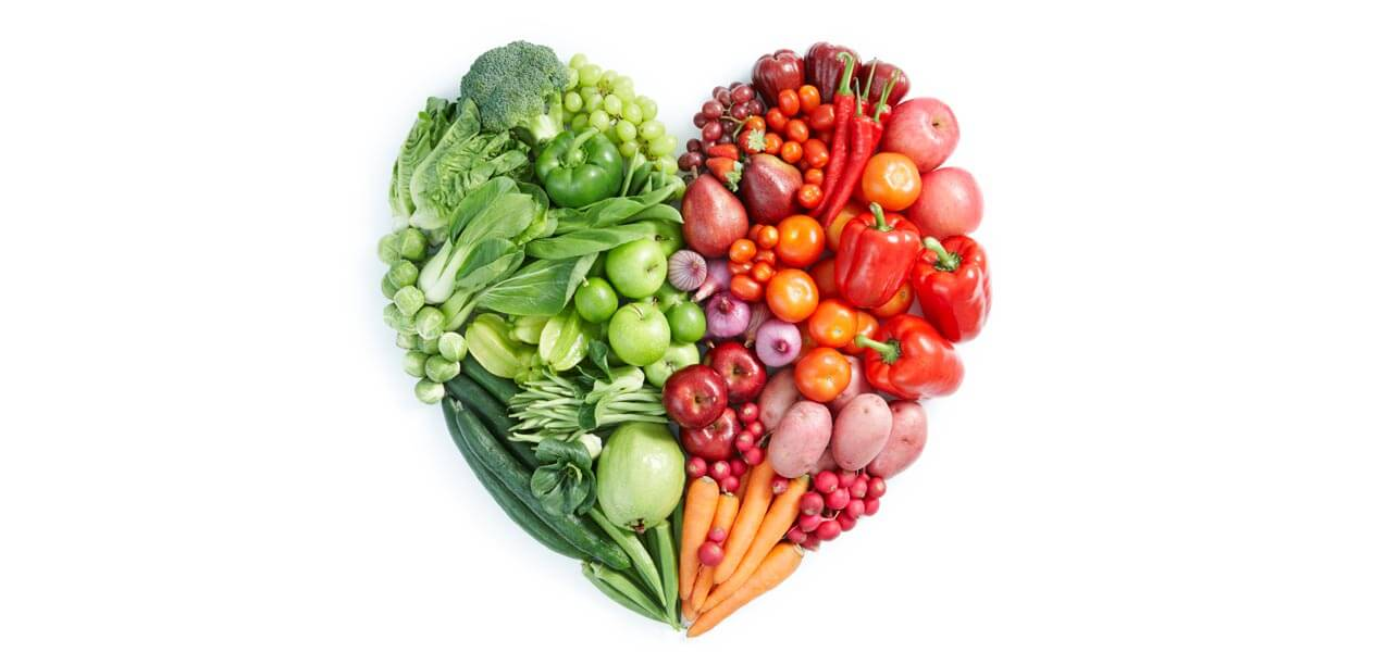 Heart shaped out of vegetables